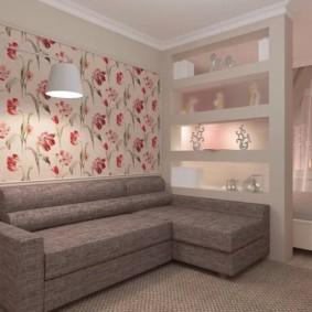 спальня гостиная 17 кв м интерьер фото