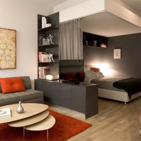 спальня гостиная 17 кв м интерьер идеи