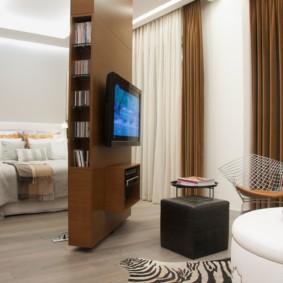 спальня-гостиная 18 кв.м. дизайн фото