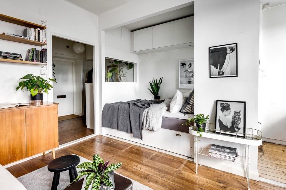 спальня-гостиная 18 кв.м. дизайн идеи