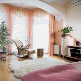 спальня-гостиная 18 кв.м. фото дизайн