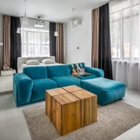спальня-гостиная 18 кв.м. фото идеи