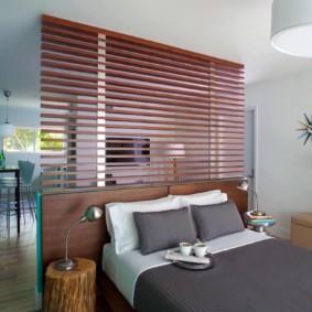 спальня-гостиная 18 кв.м. фото интерьера