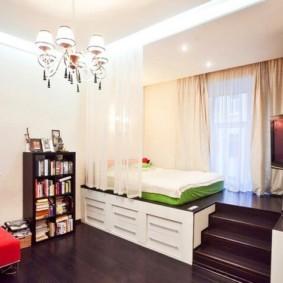 спальня-гостиная 18 кв.м. фото оформление