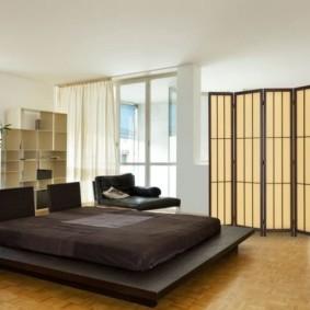 спальня-гостиная 18 кв.м. фото видов