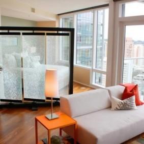спальня-гостиная 18 кв.м. идеи декор