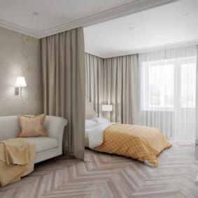 спальня-гостиная 18 кв.м. идеи декора