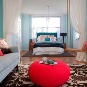 спальня-гостиная 18 кв.м. идеи дизайн
