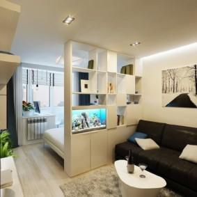 спальня-гостиная 18 кв.м. идеи интерьера