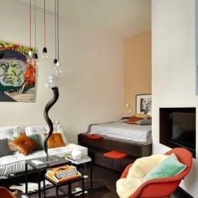 спальня-гостиная 18 кв.м. идеи оформление