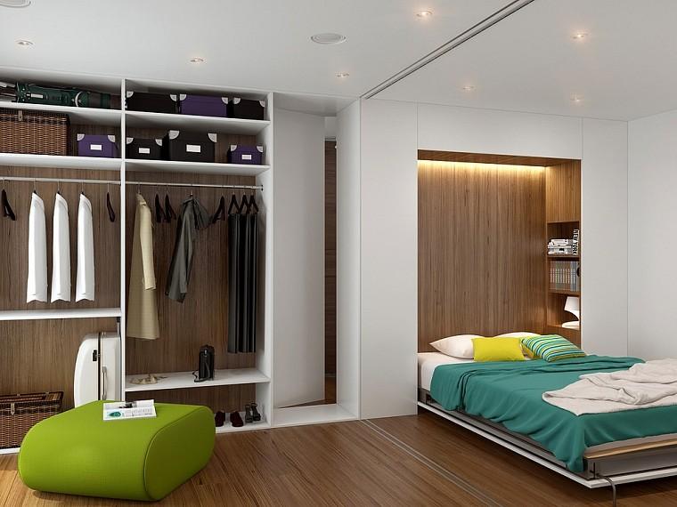 спальня-гостиная 18 кв.м. с гардеробной фото