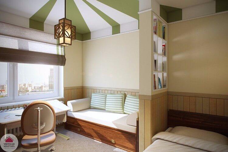 спальня-гостиная 18 кв.м. виды