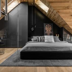 спальня на мансарде фото дизайн
