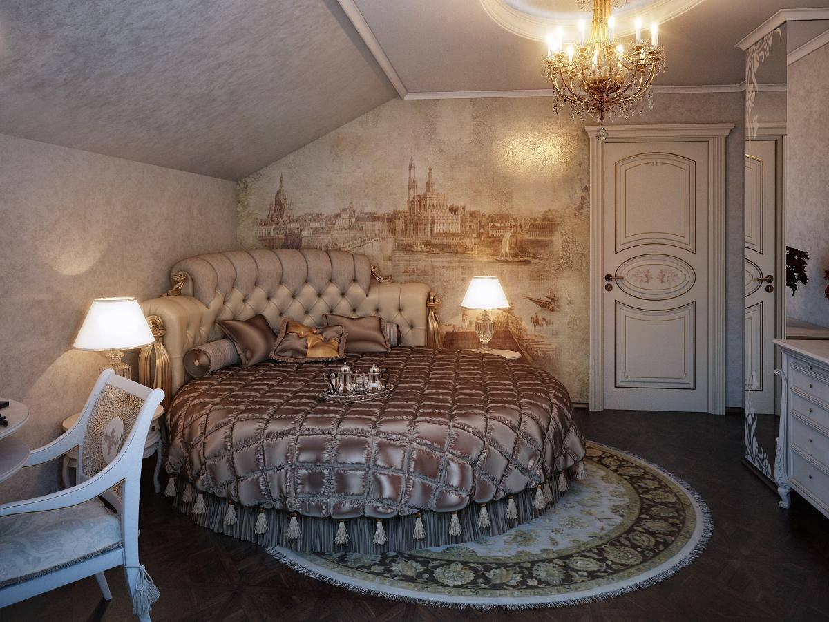 спальня на мансарде виды фото