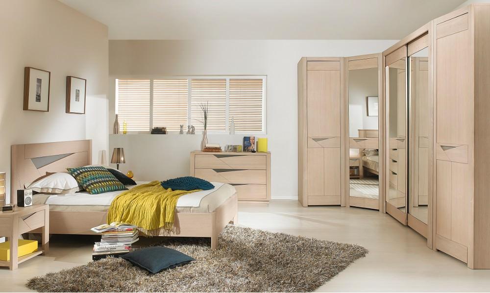 спальня с угловым шкафом купе декор фото