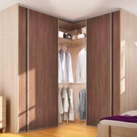спальня с угловым шкафом купе фото дизайн