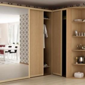 спальня с угловым шкафом купе фото дизайна