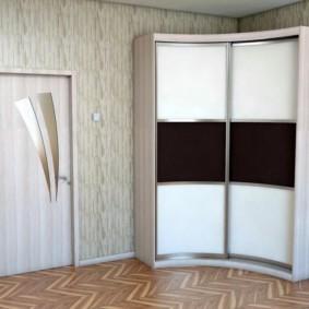 спальня с угловым шкафом купе фото вариантов