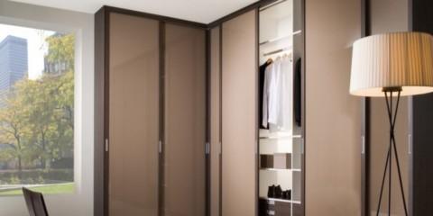 спальня с угловым шкафом купе идеи декор