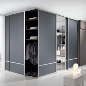 спальня с угловым шкафом купе идеи дизайна