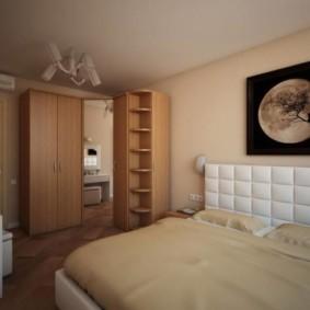 спальня с угловым шкафом купе идеи фото