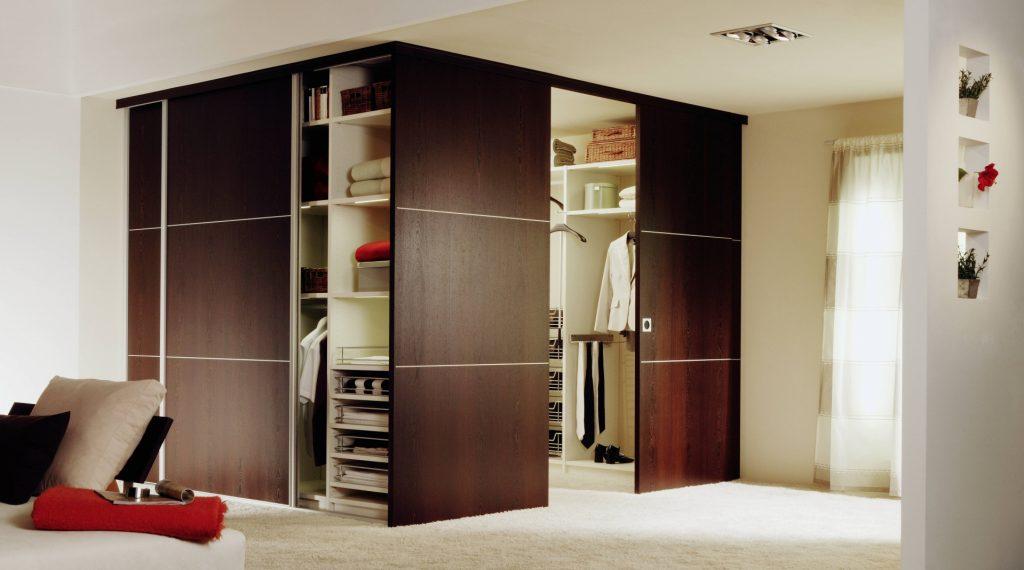 спальня с угловым шкафом купе идеи интерьер