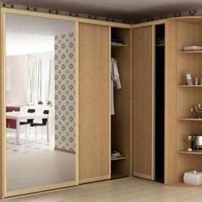 спальня с угловым шкафом купе идеи интерьера