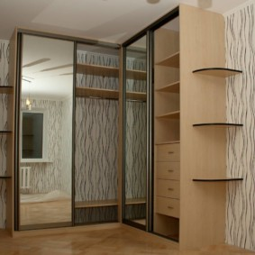 спальня с угловым шкафом купе идеи оформление