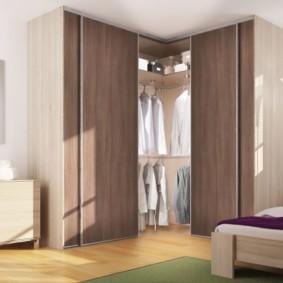спальня с угловым шкафом купе идеи вариантов