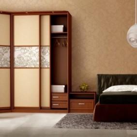 спальня с угловым шкафом купе идеи варианты