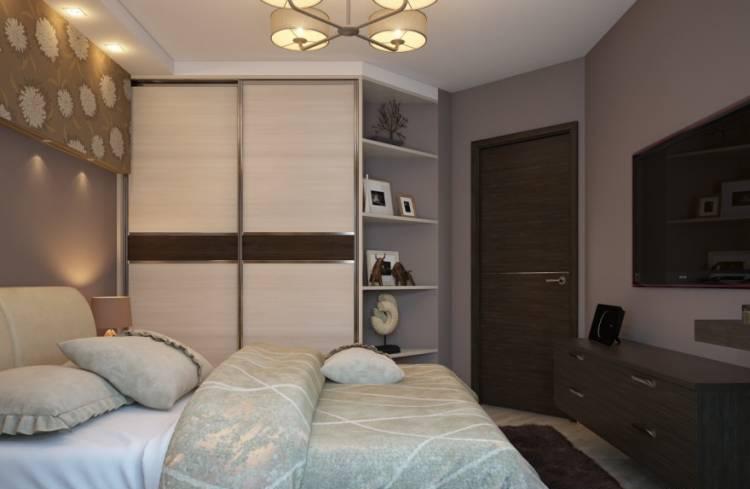 спальня с угловым шкафом купе идеи