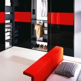 спальня с угловым шкафом купе интерьер фото