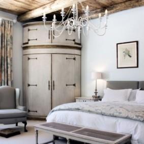 спальня с угловым шкафом купе интерьер идеи