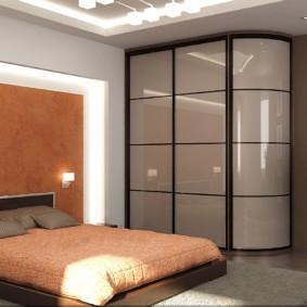 спальня с угловым шкафом купе варианты