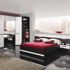 спальня с угловым шкафом купе виды фото
