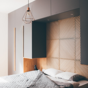 шкафы над кроватью в спальне фото дизайн