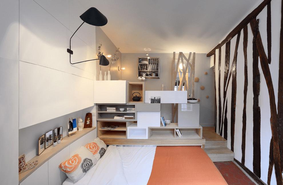 шкаф над кроватью в спальне фото интерьер