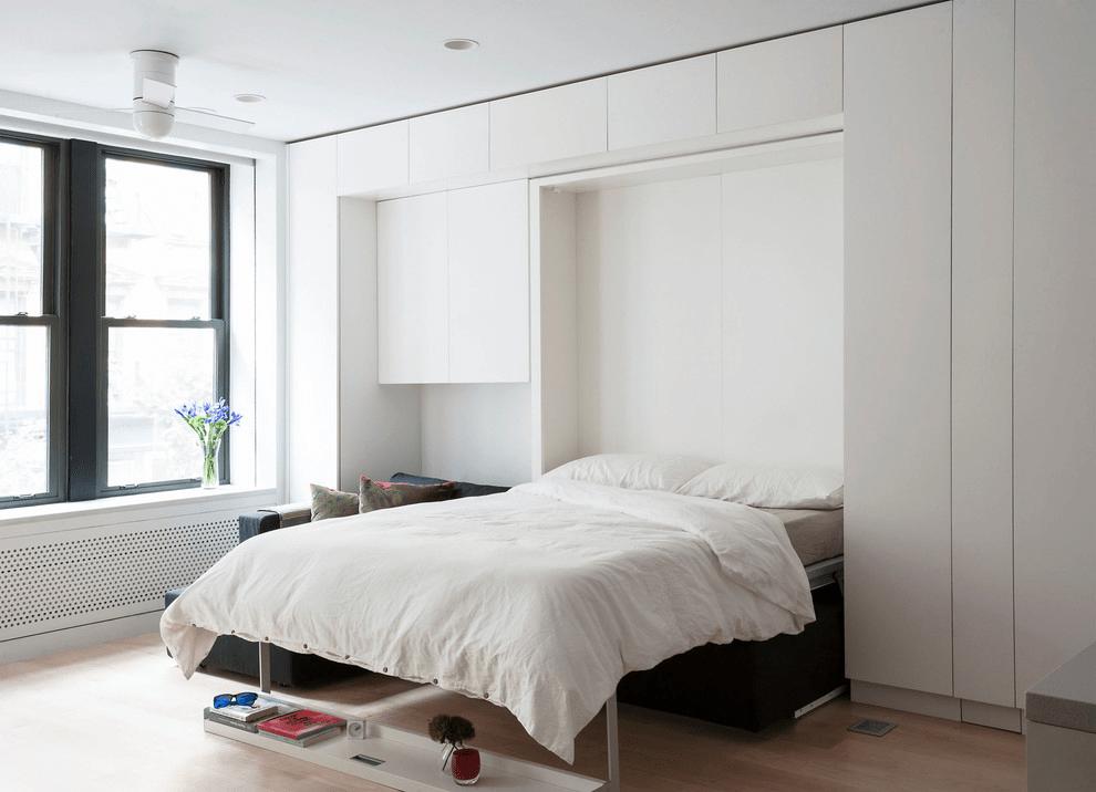 шкаф над кроватью в спальне фото оформление