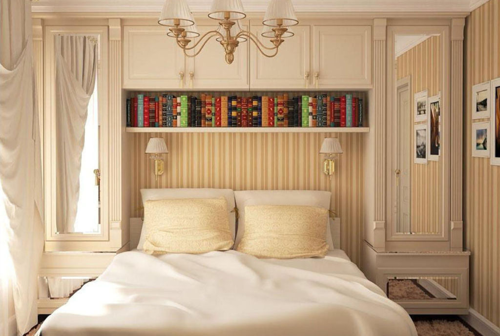 шкаф над кроватью в спальне фото видов