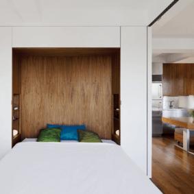 шкафы над кроватью в спальне идеи дизайн