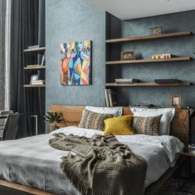 шкафы над кроватью в спальне идеи дизайна