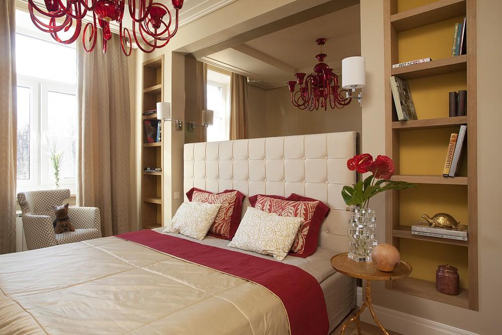 шкаф над кроватью в спальне идеи оформления