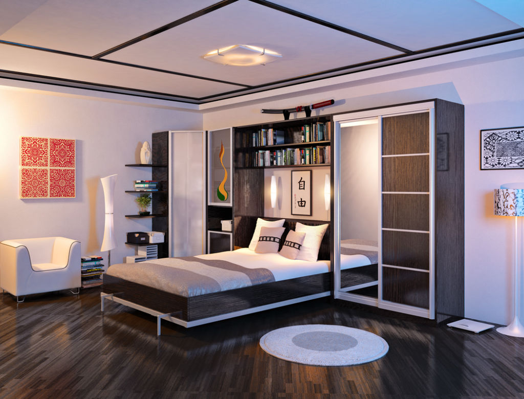 шкаф над кроватью в спальне идеи вариантов