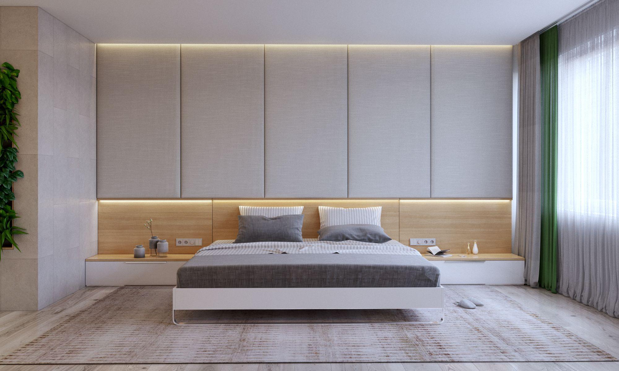шкаф над кроватью в спальне оформление идеи