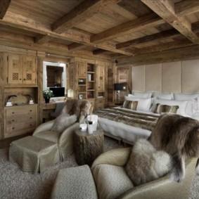 спальня в стиле шале идеи дизайна