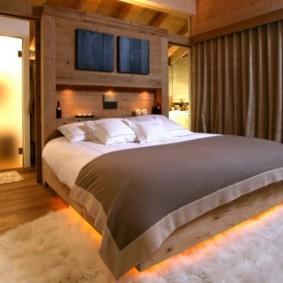 спальня в стиле шале идеи интерьер
