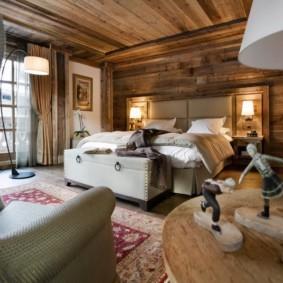 спальня в стиле шале идеи интерьера