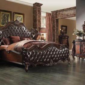 спальня в коричневых тонах дизайн