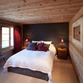 спальня в коричневых тонах фото
