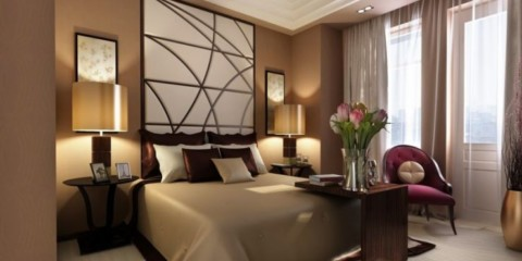 спальня в коричневых тонах фото идеи